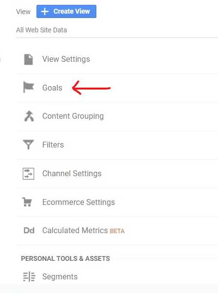 How to set up a Goal